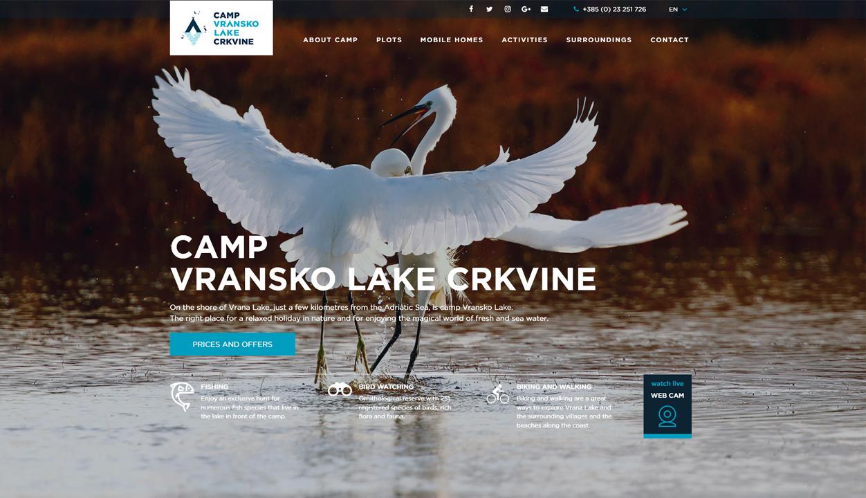 Camp Vrana Lake Crkvine