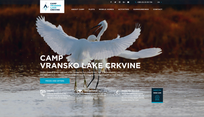 Camp Vrana Lake Crkvine